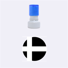 Flag Of Puerto Rican Independence Party Rubber Round Stamps (small) by abbeyz71