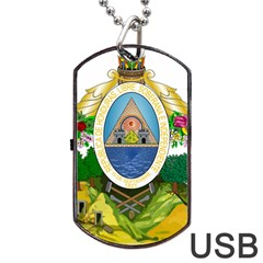 Coat Of Arms Of Honduras Dog Tag Usb Flash (two Sides)  by abbeyz71