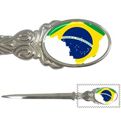 Flag Map Of Brazil  Letter Openers