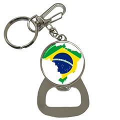 Flag Map Of Brazil  Bottle Opener Key Chains