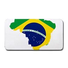 Flag Map Of Brazil  Medium Bar Mats