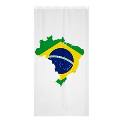 Flag Map Of Brazil  Shower Curtain 36  X 72  (stall)  by abbeyz71