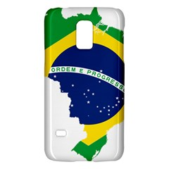 Flag Map Of Brazil  Galaxy S5 Mini by abbeyz71