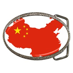 Flag Map Of China Belt Buckles by abbeyz71