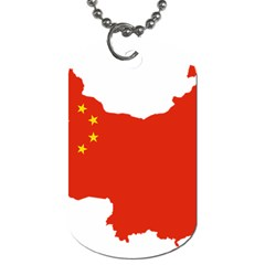 Flag Map Of China Dog Tag (two Sides) by abbeyz71