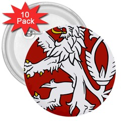 Bohemia Coat Of Arms  3  Buttons (10 pack)  by abbeyz71