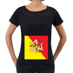 Coat Of Arms Of Sicily Women s Loose-Fit T-Shirt (Black) by abbeyz71