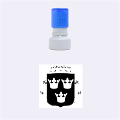 Lesser Coat Of Arms Of Sweden Rubber Round Stamps (Small) by abbeyz71