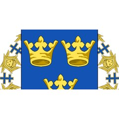 Lesser Coat Of Arms Of Sweden You Are Invited 3d Greeting Card (8x4) by abbeyz71