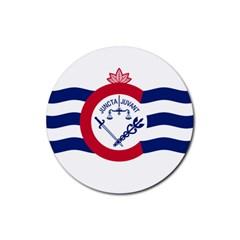 Flag Of Cincinnati Rubber Coaster (Round)  by abbeyz71