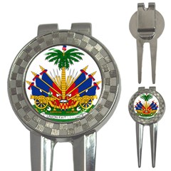 Coat Of Arms Of Haiti 3-in-1 Golf Divots by abbeyz71