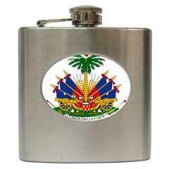 Coat Of Arms Of Haiti Hip Flask (6 oz) by abbeyz71