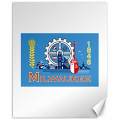 Flag Of Milwaukee Canvas 16  X 20   by abbeyz71