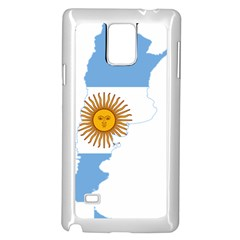 Flag Map Of Argentina Samsung Galaxy Note 4 Case (white) by abbeyz71