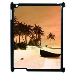 Wonderful Sunset Over The Beach, Tropcal Island Apple Ipad 2 Case (black) by FantasyWorld7