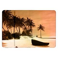 Wonderful Sunset Over The Beach, Tropcal Island Samsung Galaxy Tab 8 9  P7300 Flip Case by FantasyWorld7