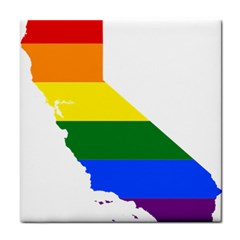 Lgbt Flag Map Of California Tile Coasters by abbeyz71