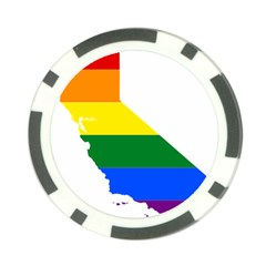 Lgbt Flag Map Of California Poker Chip Card Guards (10 pack)  by abbeyz71