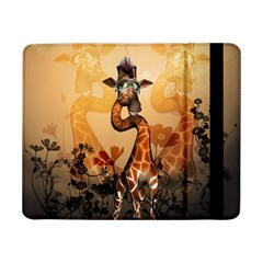 Funny, Cute Giraffe With Sunglasses And Flowers Samsung Galaxy Tab Pro 8 4  Flip Case