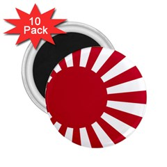 Ensign Of The Imperial Japanese Navy And The Japan Maritime Self Defense Force 2 25  Magnets (10 Pack)