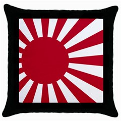 Ensign Of The Imperial Japanese Navy And The Japan Maritime Self Defense Force Throw Pillow Case (black) by abbeyz71