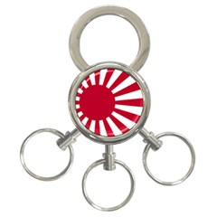 Ensign Of The Imperial Japanese Navy And The Japan Maritime Self Defense Force 3 Ring Key Chains