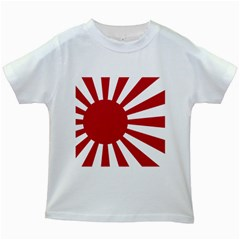 Ensign Of The Imperial Japanese Navy And The Japan Maritime Self Defense Force Kids White T Shirts
