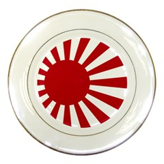 Ensign Of The Imperial Japanese Navy And The Japan Maritime Self Defense Force Porcelain Plates