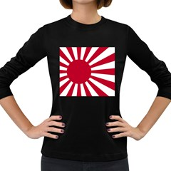 Ensign Of The Imperial Japanese Navy And The Japan Maritime Self Defense Force Women s Long Sleeve Dark T Shirts