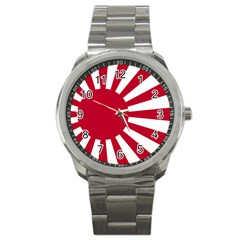 Ensign Of The Imperial Japanese Navy And The Japan Maritime Self Defense Force Sport Metal Watch