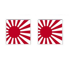 Ensign Of The Imperial Japanese Navy And The Japan Maritime Self Defense Force Cufflinks (square)