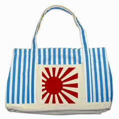 Ensign Of The Imperial Japanese Navy And The Japan Maritime Self Defense Force Striped Blue Tote Bag