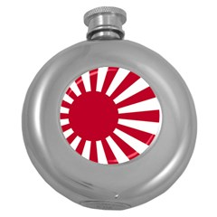 Ensign Of The Imperial Japanese Navy And The Japan Maritime Self Defense Force Round Hip Flask (5 Oz)