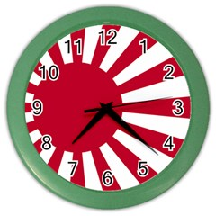 Ensign Of The Imperial Japanese Navy And The Japan Maritime Self Defense Force Color Wall Clocks
