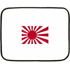 Ensign Of The Imperial Japanese Navy And The Japan Maritime Self Defense Force Fleece Blanket (mini)
