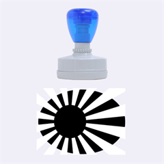 Ensign Of The Imperial Japanese Navy And The Japan Maritime Self Defense Force Rubber Oval Stamps