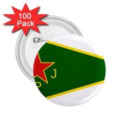 Flag Of The Women s Protection Units 2.25  Buttons (100 pack)  by abbeyz71