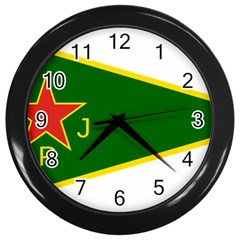 Flag Of The Women s Protection Units Wall Clocks (black) by abbeyz71