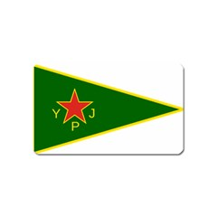 Flag Of The Women s Protection Units Magnet (name Card) by abbeyz71
