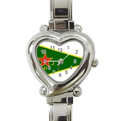 Flag Of The Women s Protection Units Heart Italian Charm Watch by abbeyz71