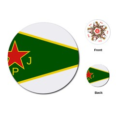 Flag Of The Women s Protection Units Playing Cards (round)  by abbeyz71
