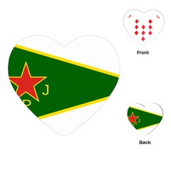 Flag Of The Women s Protection Units Playing Cards (heart)  by abbeyz71
