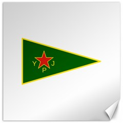 Flag Of The Women s Protection Units Canvas 20  X 20   by abbeyz71