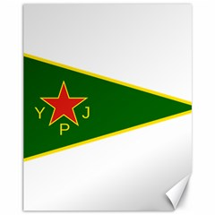 Flag Of The Women s Protection Units Canvas 11  X 14