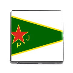 Flag Of The Women s Protection Units Memory Card Reader (square) by abbeyz71