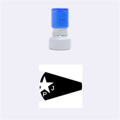 Flag Of The Women s Protection Units Rubber Round Stamps (small) by abbeyz71