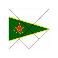 Flag Of The Women s Protection Units Acrylic Tangram Puzzle (4  X 4 ) by abbeyz71