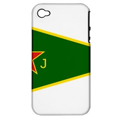 Flag Of The Women s Protection Units Apple Iphone 4/4s Hardshell Case (pc+silicone)