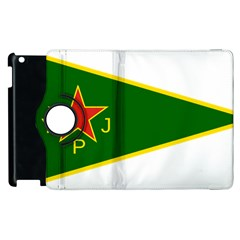 Flag Of The Women s Protection Units Apple Ipad 2 Flip 360 Case by abbeyz71