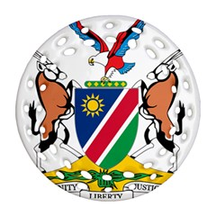Coat Of Arms Of Namibia Round Filigree Ornament (2side) by abbeyz71